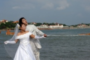 Qingdao, wedding couple during photo session