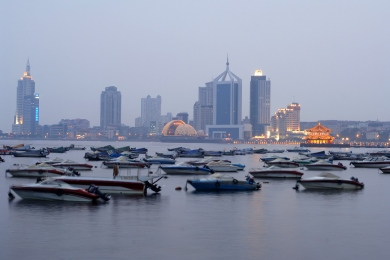 Qingdao, downtown coastline