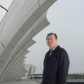 Mr Wu- at the Shanghai Swimming Stadium-architect at gmp Shanghai