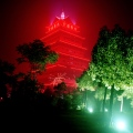 Huaxi, Communist Village, iluminated Pagoda, Stern