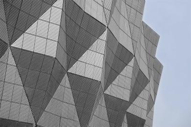Logon-Architecture- Jining Stadium Facade