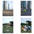 Shanghai-Pudong Jin Mao Building and Zhongshan Park 15 years apart