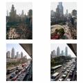Shanghai-Peoples Square Nanjing Lu Pedestrian Road and Music Hall on Yan'an Lu 15 years apart (see downloads)