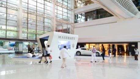 Maserati presentation booth at XinTianDi Shopping Mall Shanghai