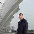Mr Wu- at the Shanghai Swimming Stadium-architect at gmp Shanghai