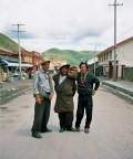 3 men on village main road, Tagong Sichuan