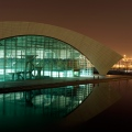 SOSC Shanghai Oriental Swimming Center, Natatorium by night, 2 year documentation for Architects gmp