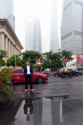 Drive magazine, Portrait Jieson Zhang in front of his car in Shanghai