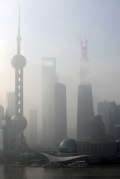 Shanghai-Pudong Skyline in the mist