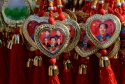 Beijing-good luck charms-Hearts of Mao and Xi Jinping
