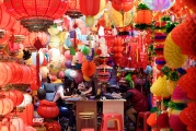 Yiwu-commodity market booth for lanterns