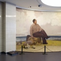 Maos birthplace museum-footsteps and Mao picture- Shaoshan in Hunan province- brandeins