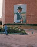 Baghdad, Saddam Hussein wallpicture, 6 months prior to 2nd Iraq War