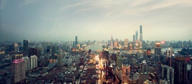 BMW 100 Jahre: Rolls Royce Story China, Shanghai Skyline