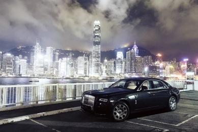BMW 100 Jahre: Rolls Royce Story China, Hongkong Skyline, Rolls-Royce Ghost