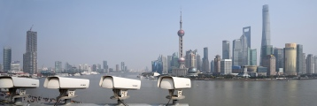 Shanghai-Surveillance Cameras pointing at Bund and Pudong