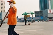 Dezhou, crossing, Billboard ' Let Dezhou go to the world, let the world understand Dezhou'