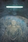 Buddha exhibition in old air raid bunker, Jinan