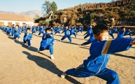 Young students of a Shaolin Martial Arts School in Dengfeng, where over 10.000 students are trained