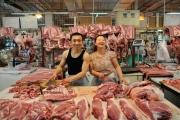 Beijing Meat Market Xinfadi, Couple, brandeins