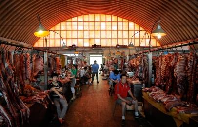 Beijing Meat Market Xinfadi, Hall overview,  brandeins