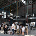 Glass Museum, architect Logon, visitors group workshop, Shanghai Baoshan