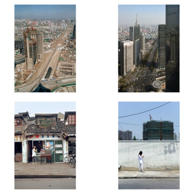 Century Avenue and Old City in Shanghai 15 years apart (see downloads)