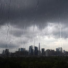 Shenzhen Skyline Western Part by rain