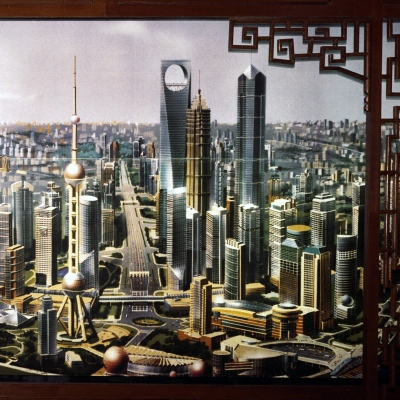 Picture of Shanghai's skyline to be, vision of the year 1999