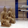 Thyssen Beijing Office interior with Terracotta Warriors and Maglev Model