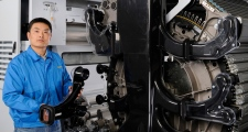 Worker at Truetzschler Textile Machinery, Shanghai