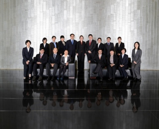 Group portrait of CMS-Hasche Sigle at their Shanghai office