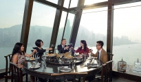 DHL, Annual Report, group enjoying wine, DHL wine depot in Hongkong