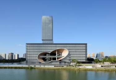 Architecture wallpaper Shanghai City Guide Poly Grand Theatre by Architect Tadao Ando